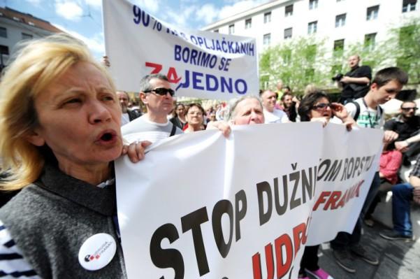 Foto: AFP / Stringer / Prosvjed udruge Franak