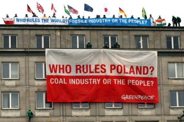 Foto: AFP / Radek Pietruszka / Greenpeaceov prosvjed protiv ugljena iz 2013. godine