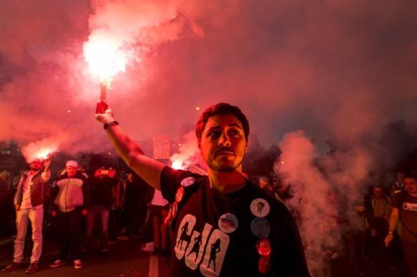 Foto: AFP / Robert Atanasovski / Prosvjed protiv VMRO-DPMNE-a iz septembra 2016.