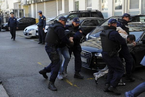 Foto: AFP / Savo Prelević / Uhićenja u Podgorici od 16. oktobra 2016.