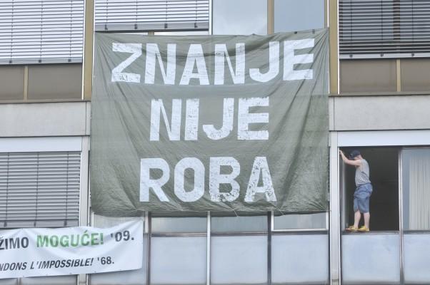 Foto: Arhiva studentskog pokreta iz 2009. / Filozofski fakultet u Zagrebu