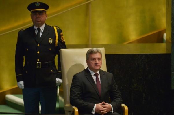 Foto: AFP / Dominick Reuter (Đorđe Ivanov, predsjednik Makedonije)