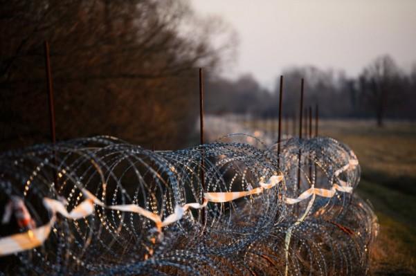 Foto: AFP / Jure Makovec / Ilustracija / Žica na granici Hrvatske i Slovenije