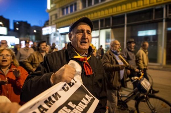 Foto: AFP / Robert Atanasovski / Prosvjed protiv platforme SDSM-a i albanskih stranaka
