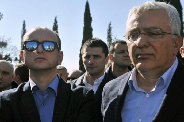 Foto: AFP / Savo Prelević / Andrija Mandić i Milan Knežević