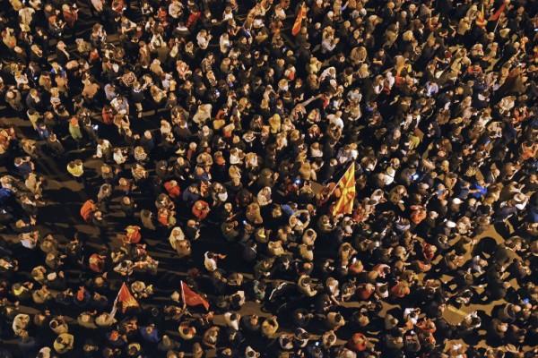 Foto: AFP / Tomislav Gregorijev / Prosvjed pristaša VMRO-DPMNE-a