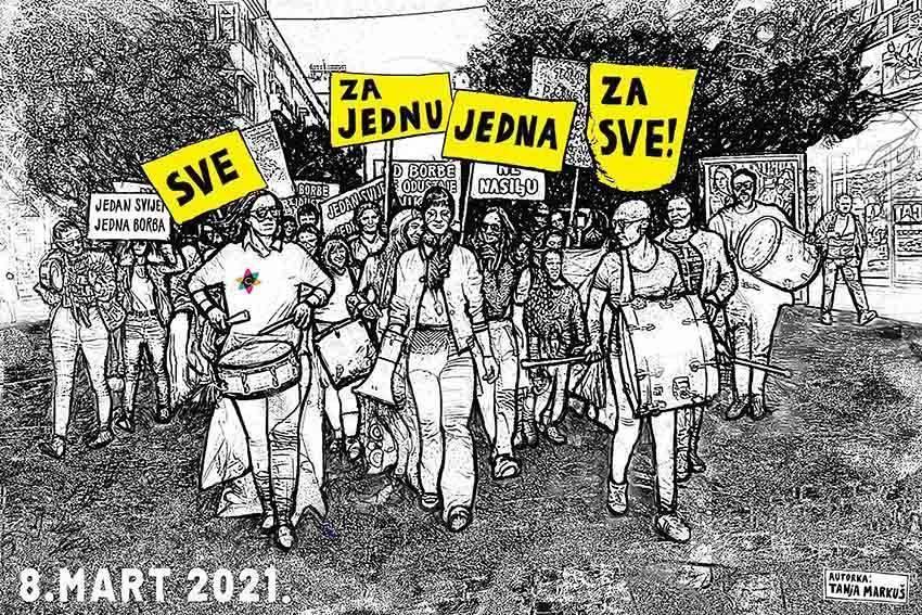 Osmomartovski marševi u regiji – ženska borba i dalje traje