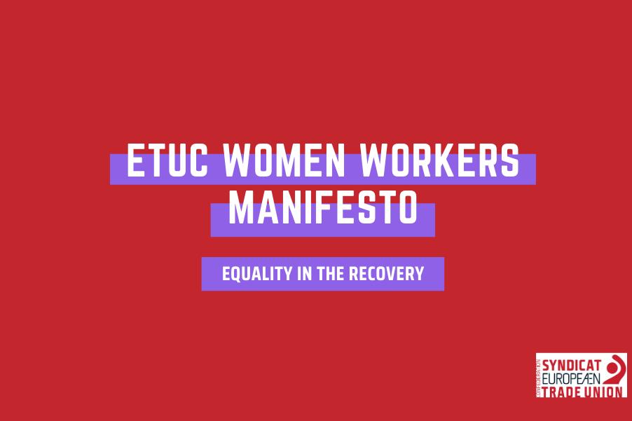Za jednakost u oporavku – manifest europskih radnica